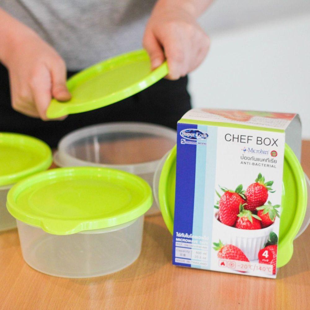กล่องอาหาร Chef Box สีเขียว Superlock