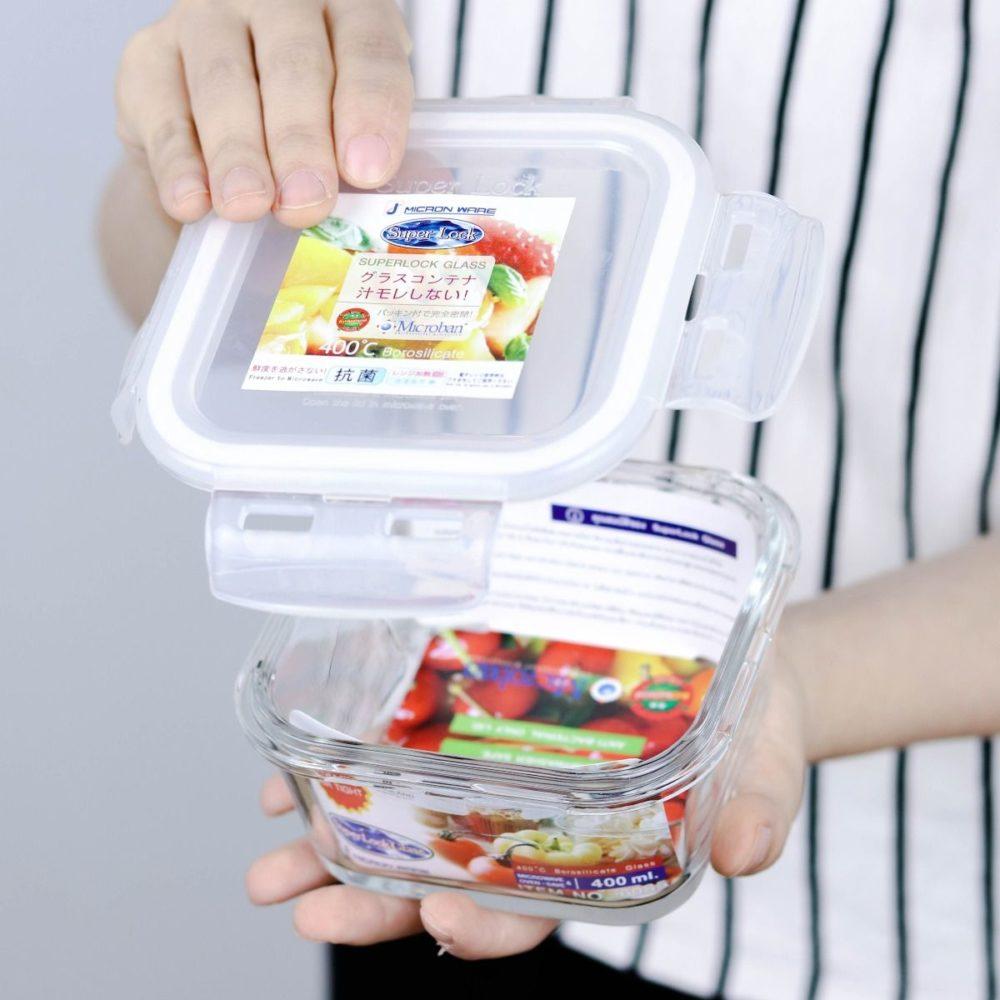 กล่องใส่อาหารแบบแก้ว Superlock