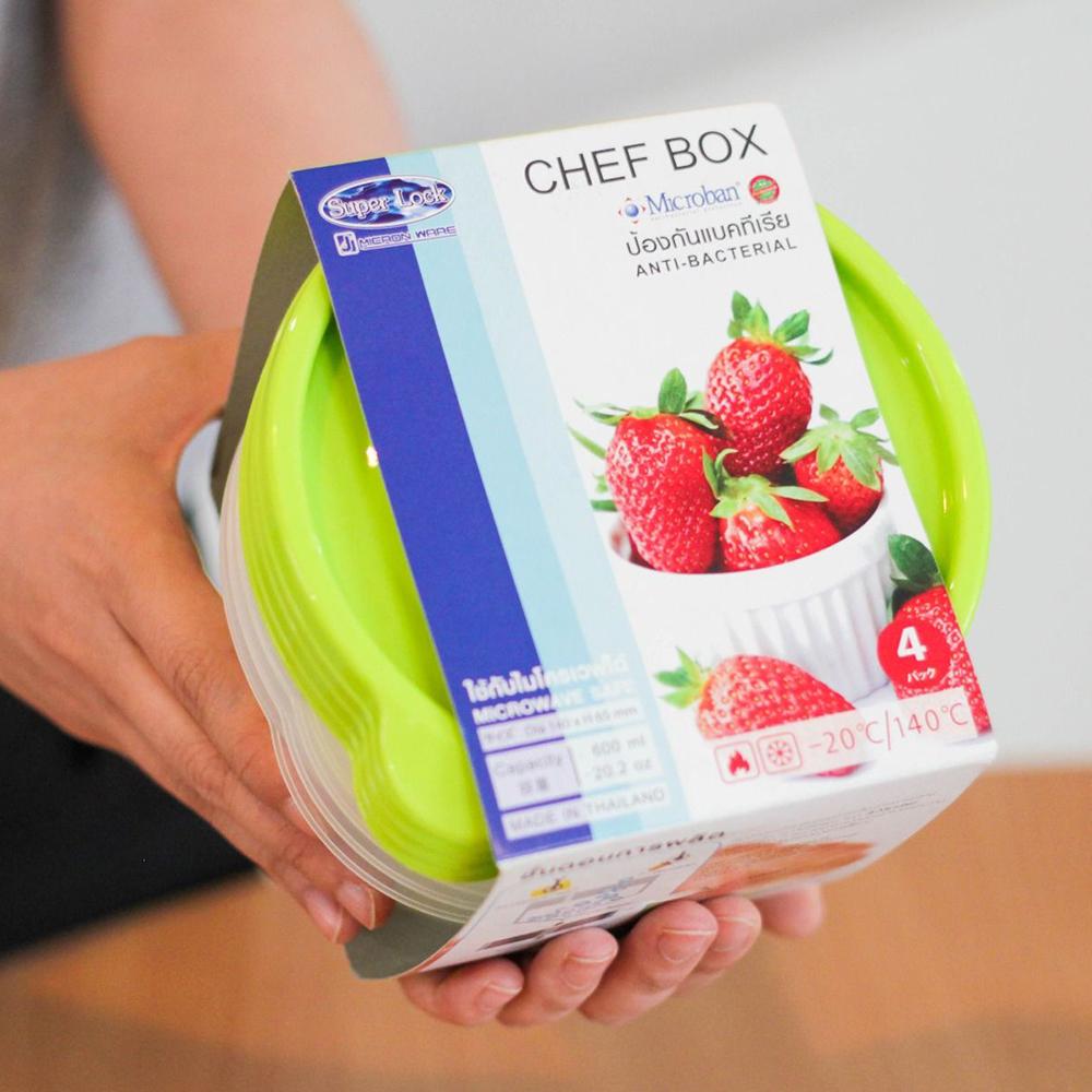 กล่องใส่อาหาร Superlock แพค 4 ชิ้น