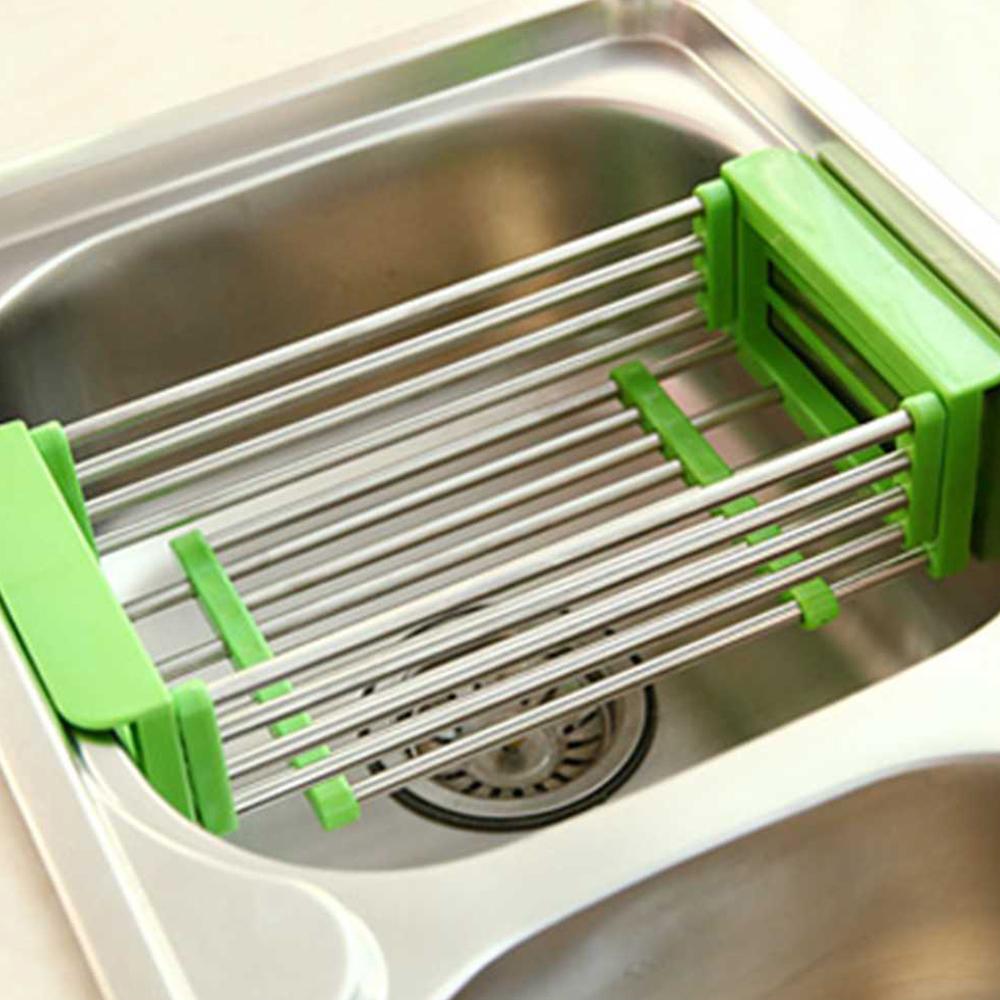 ตะแกรงล้างผัก สีฟ้า
