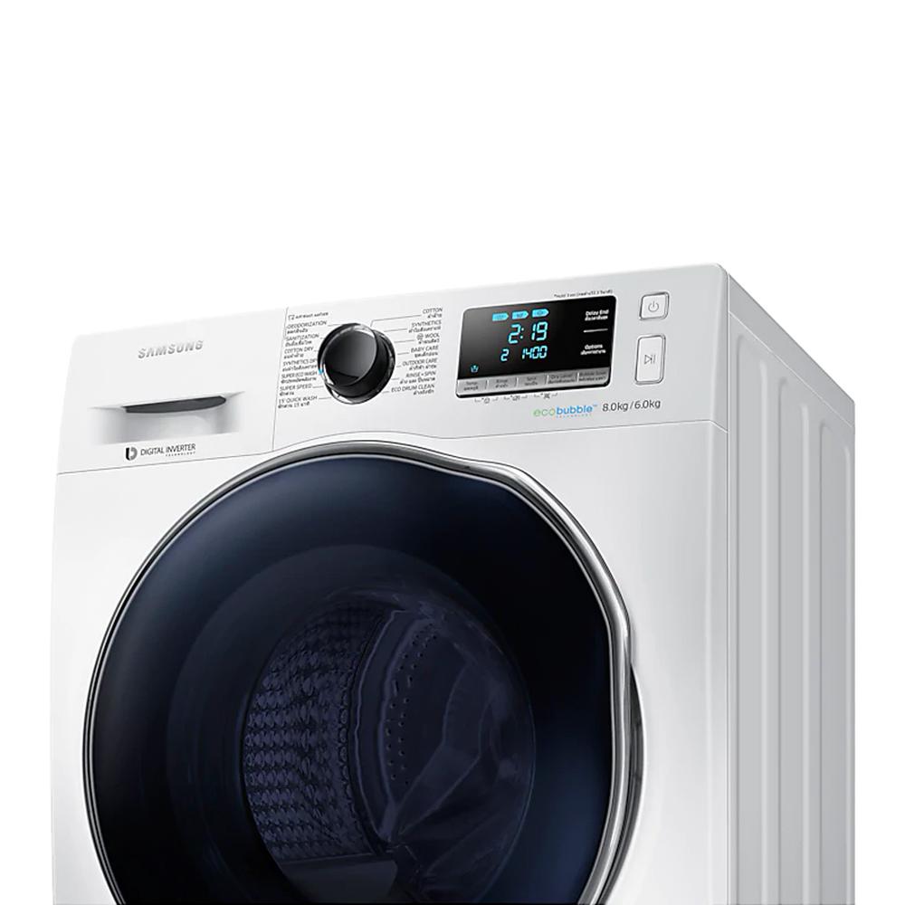 เครื่องซักผ้าฝาหน้า Samsung 8 กก. รุ่น WD80J6410AW
