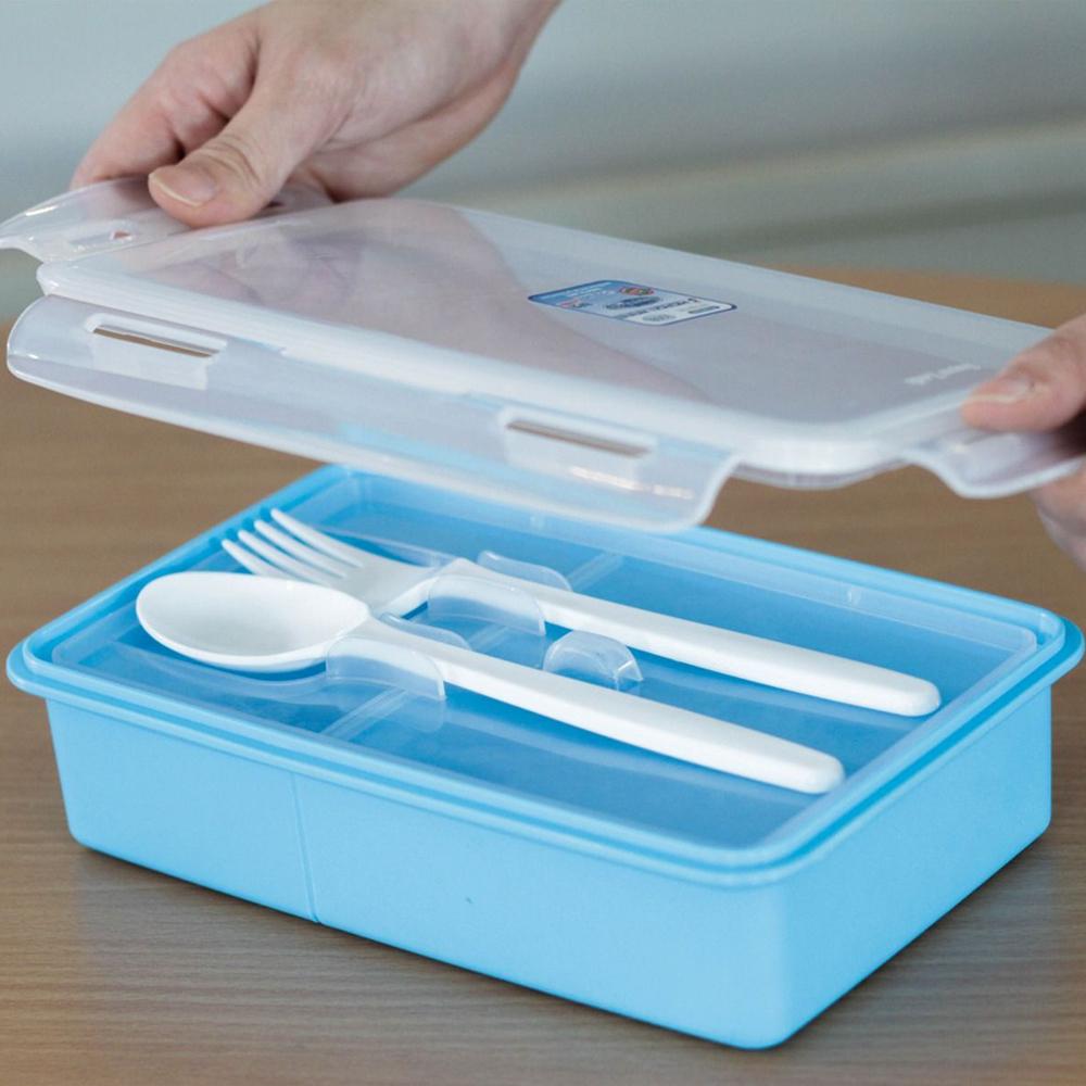 กล่องบรรจุอาหาร Superlock Micronware พร้อมช้อน ส้อม