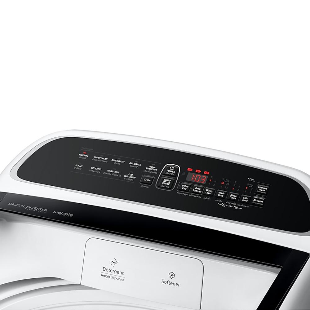 เครื่องซักผ้าฝาบน Samsung 13 กก. สีขาว